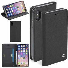 Genuine Krusell Malmö 4 Card Folio Case Black for Apple iPhone X 10 61076