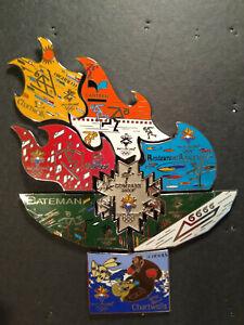 2002 Salt Lake Winter Olypmics Pin Lot 8 Flame Compass Group