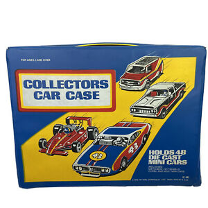 Vtg Collector's Hot Wheels Style Car Storage Case Tara Toy Co. Blue USA - Nice!