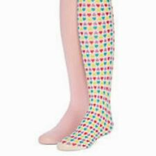 "2 GIRLS MULTI HEARTS AND PINK TIGHTS 4-6 HEIGHT 41-46""  WEIGHT 34-48 lbs.  NWT"