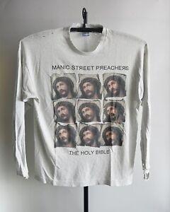 Destroyed 90s VTG Manic Street Preachers L/S T Shirt Worn Thin Distressed XL