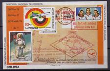 BOLIVIA Sheet Block # Mi 105  #  Mondlandung Zeppelin Raumfahrt Flugzeuge  [049]