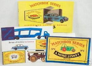 DTE EXCLUSIVE SET OF 3 1957-58-59 MATCHBOX REPRODUCTION CATALOGS