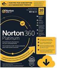 Norton 360 Security PLATINUM 2020 100GB 20 Devices VPN Parent (NOT 10D Premium)