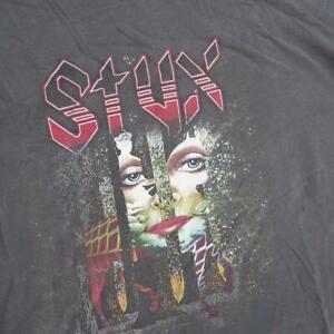 Styx Concert Tour T Shirt The Grand Illusion Concert 1977 Size XL