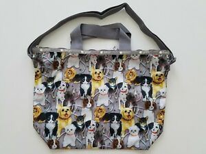 LeSportsac Womens Puppy Park Deluxe Easy Carry Tote