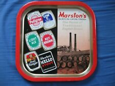 Vintage Marston's Burton-Upon-Trent Beer Color Metal Serving Tray Advertising