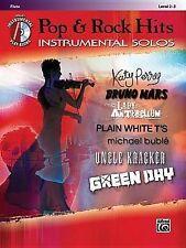 Pop & Rock Hits Instrumental Solos, Flute  : Level 2-3. K. Perry, Bruno Mars etc