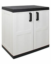 Ondis24 XXL stabiler Kunststoffschrank Comfort mit 1 Boden bis 50 kg belastbar
