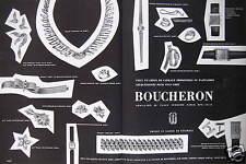 PUBLICITÉ BOUCHERON JOAILLER VOICI UN CHOIX DE CADEAUX PERSONNELS OU D'AFFAIRES