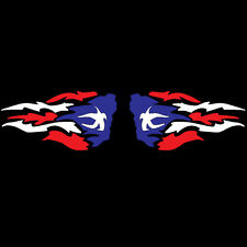 PUERTO RICO CAR DECAL STICKER FIRE PAIR with PUERTO RICAN FLAG #52