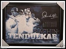Sachin Tendulkar Signed Official  Sportsprint L/E Framed - The Little Master