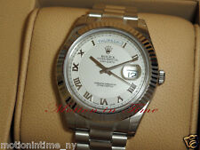 Rolex 218239 Day-Date II 18kt White Gold 41mm President Ivory Concentric Roman