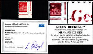A2) Bund Neuentdeckung 508 Druckerzeichen DZ GES ni gelistet Befund Schlegel BPP
