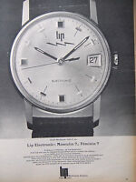 PUBLICITÉ DE PRESSE 1967 MONTRE LIP SARAH BERNHARDT GENEVE - ADVERTISING