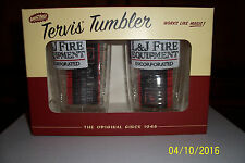 """Tervis 16 oz. Tumblers Set of 2 Advertising """"L&J FIRE EQUIPMENT """" ,  NEW"""
