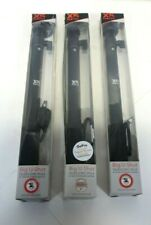 lot of 3 Xsories Big U-Shot 37-inch Telescopic Pole with 1/4-inch - Black