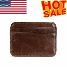 Men's Minimalist Front Pocket Wallet Slim & Thin & RFID Credit Card Card Holder