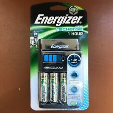 Energizer 1 Hour AA /AAA Charger with  4 AA 2300 mAh NiMH Rechargeable Batteries
