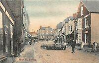 POSTCARD - TISBURY - HIGH STREET - ANIMATED SCENE - CIRCA 1909