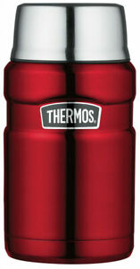 Thermos Stainless King Food Flask - 710 ml, Cranberry Red