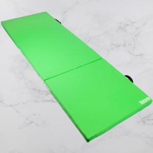 Tri Folding Yoga Exercise Mat Pilates Gym Crash Workout Home Training Green