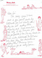 "Marty Links American cartoonist, creator of ""Emmy Lou"". Autograph Letter Signed"
