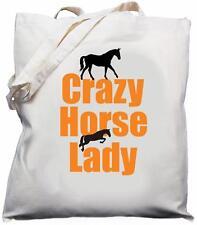 Crazy Horse Lady-naturale (crema) Cotone Borsa A Tracolla