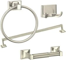 Satin Nickel 4 Piece Bathroom Hardware Bath Accessory Set