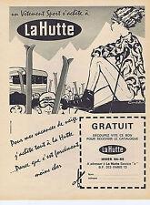 PUBLICITE ADVERTISING 1961 074 LA HUTTE vêtement de sport