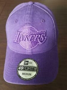 New Era Cap Los Angeles Lakers 49Forty medium purple hat NEW