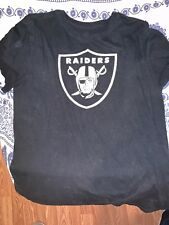Oakland Raiders T-Shirt Nike Men's NFL Dri-Fit Cotton Logo Essential Tee Black