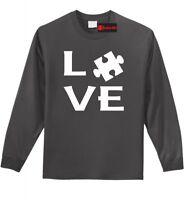 Love Autism Awareness Long Sleeve T Shirt April Autism Puzzle Tee Shirt Z1