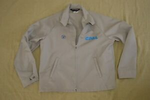 Vintage Sportsmaster Jacket Gray Size L Multiple Patches Made In USA 1980's