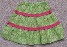 BEEHAVE GIRL/'S BOUTIQUE PINK /& GREEN SKIRT WITH RUFFLE SIZE ELASTIC WAIST NEW