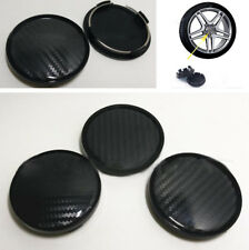 4Pcs Carbon Fiber Look ABS Car Wheel Hub Center Caps Decoration Cover 60mm/58mm
