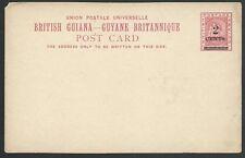 BR GUIANA 2 Cents on 3c ship type postcard unused..........................49762