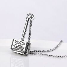 Movie Marvel Comics Avengers Thor Hammer Pendant Necklace Chain Men Jewelry NEW