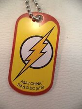 New DC Comic The Flash Justice League Blue Dog tag Key Chains Bright Color