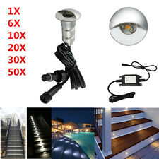 26mm LED Deck Step Stair Lights Half-Moon Outdoor Yard Garden Waterproof Lamp
