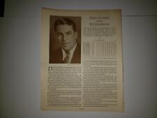 Freddie Fitzsimmons & Carl Fischer 1933 Baseball Who's Who in Baseball Sheet