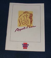 THEATRE ROYAL NORWICH - ASPECTS OF LOVE 30 NOVEMBER - 11 DECEMBER 1993