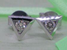 Diamant Brillant Ohrstecker 585 Weißgold 14Kt Gold 0,12ct Solitär