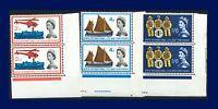 1963 SG639-641 2½d-1s6d Intl Lifeboat Conference Set (3) Corner Pairs MNH amaf