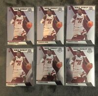 KENDRICK NUNN Lot Of 6 2019-2020 Panini Mosaic NBA Debut Rookie Cards RC HEAT