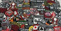 Wholesale Job Lot Iron On Biker Patch Motorcyle Rider Random Embroidered Patches