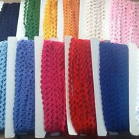 """JUMBO RIC RAC BRAIDING CRAFTS SEWING 13MM (33/64"""") CHOOSE YOUR COLOUR AND LENGTH"""