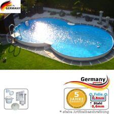 Achtformpool 8,55 x 5,00 x 1,20 m Achtformbecken Gartenpool Einbaupool Pool