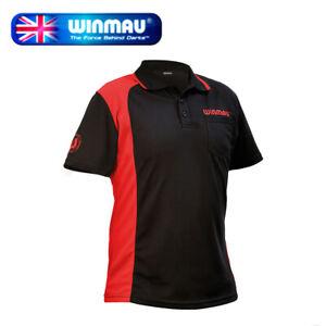 Winmau Wincool 2 Breathable Darts Shirt, Black & Red in 3XLarge