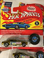 🔥Hot Wheels🔥Vintage Redlines Snake Gold Lot of 2